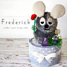 9f52806e9b85 フレデリックと今治タオルのおむつケーキ □用途:出産祝い(出産祝)(誕生祝い)子供の日のお祝いに♪ □素材: フェイスタオル :綿100%  □セット内容: ・おむつ ...