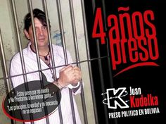 Mi esposo @KudelkaJ 4 años Preso Politico en Bolivia. Pido libertad y justicia. Xfavor RT pic.twitter.com/RClWHdNn0D