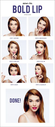 Top celebrity #makeup artist Lauren Andersen demonstrates a step-by-step #tutorial to mastering the perfect bold lip.
