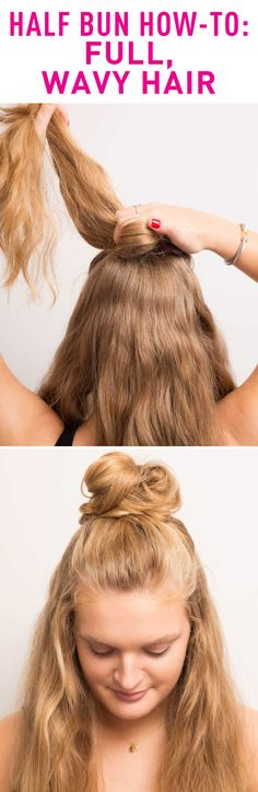 If your hair is long and thick, use a smaller section of hair so your bun isn't too big.
