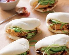 Chinese Roast Chicken Buns with Scallion and Spicy Hoisin Sauce Recipe