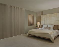Luminette® Privacy Sheers with PowerView™ Motorization in Bedroom with room darkening fabric.
