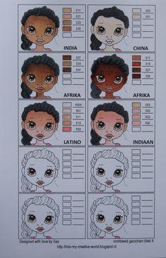 Cards made by Sas: Copic kleuren combi's