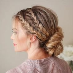 Cute DIY Hairstyle you could try at home. Beautiful hair inspiration video The post Cutest DIY Hairstyle Tutorial Video appeared first on Hair Styles. Side Braid Hairstyles, Pretty Hairstyles, Punk Rock Hairstyles, Easy Elegant Hairstyles, Hairstyle Ideas, Fairy Hairstyles, Casual Braided Hairstyles, Church Hairstyles, Grecian Hairstyles