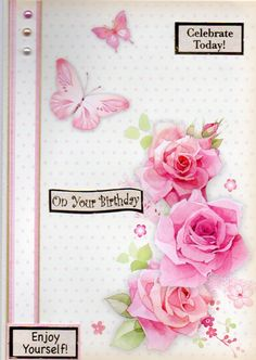Hunkydory Flutterby Wishes birthday card Card Making Kits, Making Ideas, Making Cards, Butterfly Cards, Flower Cards, It's Your Birthday, Birthday Cards, Paper Crafts, Diy Crafts