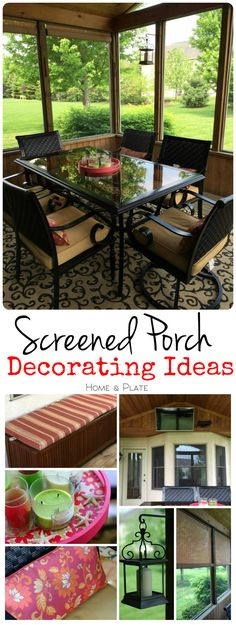 Screen Porch Decorating Ideas | Home & Plate | www.homeandplate.com | Use simple decorating ideas to define your outdoor living space. Keeping it simple and streamlined is key.