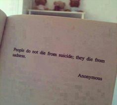 Suicídio.