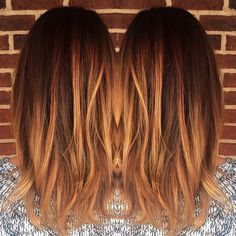 blonde, caramel, balayage, warm, copper, color melt, lowlights, honey, #cuttingloosect 2016