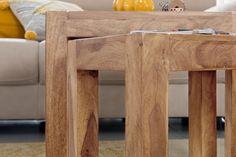 Wohnling 3er Set Satztisch WL1.444 aus Akazie Massivholz #Wohnidee #Dekoration #Set #Flur #Ablagemöglichkeit #Holz