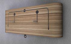 Coole Garderobe mit integriertem Bügelmagazin. Coming soon on kickstarter. www.wardywall.com Bamboo Cutting Board, Design, Home, Cloakroom Basin, Ad Home, Homes, Haus, Houses