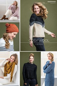 Im #Booklet No. 2 gibt es sieben traumhaft schöne Anleitungen für #Damenbekleidung und #Accessoires. Ob Pullover, Mütze oder #Poncho, mit den lässig-klaren Look aus Cosy Wool wird es so richtig gemütlich. Bei Cosy Wool ist der Name nämlich Programm, ein herrlicher Allrounder für winterliche Kuscheldesigns.  #schachenmayr #cosywool #stricken #anleitungen Raglan Pullover, Knit Crochet, Crochet Hats, Crochet Patterns, Knitting, Fashion, Ponchos, La Mode, Turtleneck