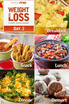 Day 2 Meal Plan – 7 Day Weight Loss Challenge Recipes for Weight Watchers