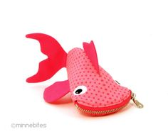 Whimsical and fun bags and cases by MinneBites. Shark Bite pencil cases and more.