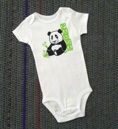 Baby Panda Onesie by CJsFunzyWunzys on Etsy, $14.00