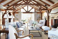 Mediterranean Living Room with White Upholstery www.findinghomesinlasvegas.com Keller Williams Las Vegas & Henderson, NV