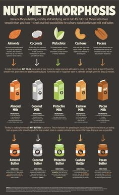 A Beginner's Guide to Making Nut Butters and Milks, in Infographic Form