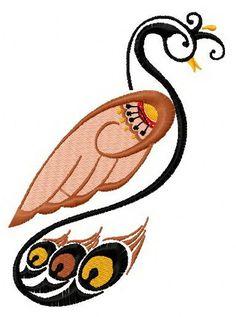 Graceful firebird 5 machine embroidery design      . Machine embroidery design. www.embroideres.com