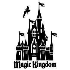 Disney Castle Die Cut Vinyl Decal PV798