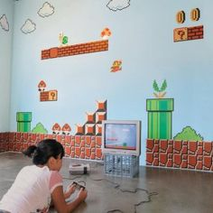 Super Mario Brothers Wall Stickers