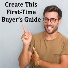 It can be tough getting first time buyers to commit. They're new to the home buying experience, usually fairly young and inexperienced. Creating a first time buyers guide can help ease them into the process, and help you get more real estate leads. Real Estate Buyers, Real Estate Leads, Selling Real Estate, Real Estate Tips, Real Estate Investing, Real Estate Courses, Real Estate School, California Real Estate, Buyers Guide