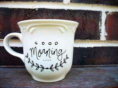 sharpie on a ceramic mug & bake. gift, sharpie mugs, mug designs, ceramic mugs, morning coffee, coffee cups, tea, cup of coffee, mornings