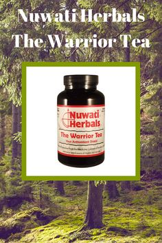 """Nuwati Herbals """"The Warrior"""" tea has an antioxidant shield made of all natural ingredients. This tea helps fights Free Radicals that accelerate aging internally and externally. Drink it hot, cold, sweetened or unsweetened. #mothersday"""