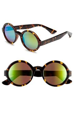Isaac Mizrahi New York 50mm Round Sunglasses available at #Nordstrom