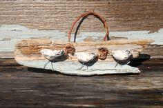 Shorebird Decor, Polymer Clay Shorebirds, Shorebird Wall Hanging, Shorebirds on Driftwood, Coastal Decor, Beach House Decor by LookandSea on Etsy https://www.etsy.com/listing/247960721/shorebird-decor-polymer-clay-shorebirds
