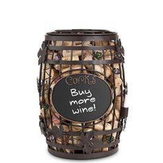 Epic Products Cork Cage Chalkboard Wine Barrel, 9.75-Inch, 2015 Amazon Top Rated Wine Making #Kitchen