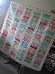 grandmother flower garden jelly roll quilt