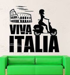 Wall Sticker Vinyl Decal Italy Rome Colosseum Europe Travel Girl Decor (ig2186)
