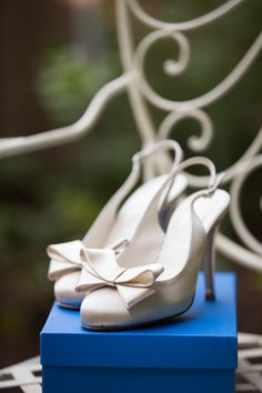 Bow shoes: http://www.stylemepretty.com/little-black-book-blog/2014/05/30/sunny-summer-garden-wedding/   Photography: Altura Studio - http://www.alturastudio.com/blog