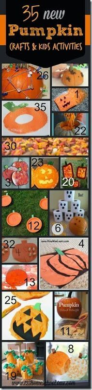 35 New Pumpkin Crafts for Kids - so many super cute crafts for kids and kids activities