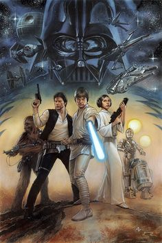 """alienspaceshipcentral: """"alwaysstarwars: """"Cover art by Adi Granov for Marvel's remastered edition of Star Wars: A New Hope, coming in March 2015 """" IF you like Science Fiction you will love these: Can. Star Wars Film, Star Wars Fan Art, Star Wars Poster, Theme Star Wars, Star Trek, Anakin Vader, Darth Vader, Star Wars Comics, Marvel Comics"""