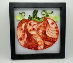 Pumpkin Paper Quilled Pumpkin Quilled Art by MyLittleShopOnline