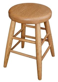Amish Oak Wood Child's Bar Stool Built for kids to enjoy, this solid oak stool is strong and sturdy. #kidsfurniture