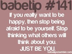 babetip 141...great advice in everyday life.