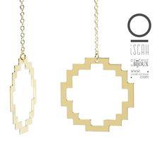 Iscah_Créateur de bijoux  www.iscah-bijoux.com  Boucles d'oreilles dorées à l'or fin