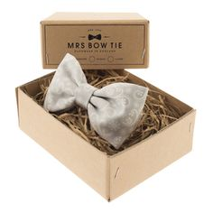 Silver Snowflake Paisley - Mrs Bow Tie