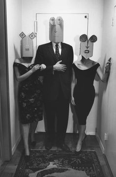 Inge MORATH & Saul STEINBERG :: Untitled, from the Mask Series, 1962