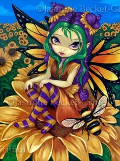 Jasmine Becket-Griffith sunflower fairy