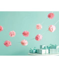 Martha Stewart Crafts Celebrate 6' Pom Pom Garland-2PK/Pink