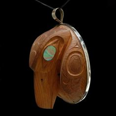 Raven Pendant by William Kuhnley, Nuu-chah-nulth (Ditidaht) artist (W101006)