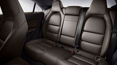 CLA250 in Brown leather with standard sport seating