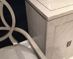 Silver pinstripe detail in furniture The Trends You Need to Know Right Now for 2016 | Maria Killam