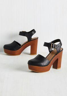 Modcloth Downtown Personality Heel, Black, $39.99, sz7