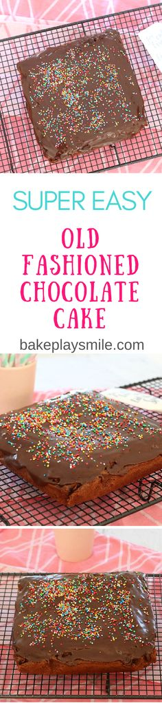 A super easy chocolate cake that is an absolute classic favourite! You really can't go wrong with this simple and old fashioned chocolate cake.   #chocolate #cake #baking #recipe #thermomix #conventional #easy #old-fashioned