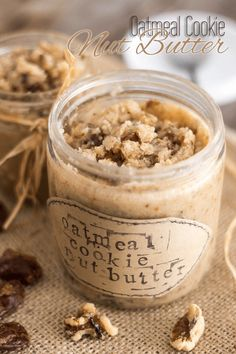 You will LOVE this all natural Oatmeal Cookie Nut Butter. Feels just like eating Oatmeal Cookie Dough, only there's not a trace of oats in it! Nutella Snacks, Vitamix Recipes, Cooking Recipes, Healthy Recipes, Vitamix Blender, Healthy Dips, Primal Recipes, Paleo Dessert, Homemade Butter