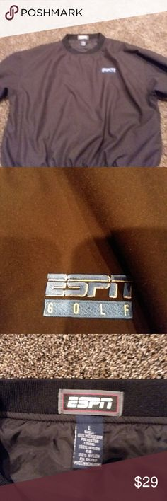 ESPN GOLF PULLOVER SIZE L MAKE OFFER NICE This is a ESPN GOLF PULLOVER SIZE LARGE like new..shows little wear.no holes or stains.great for any golfer.bundle 3 or more items from my closet and RECIEVE 30 % off your total plus 1 item free from my closet.sold as is no returns.if u bundle 5 or more items from my closet u will RECIEVE 30 % off your total plus 2 free items from my closet great deal quick shipping. Jackets & Coats