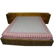 Drap en coton pour grand lit - Linge de chambre 218 x 264 cm: Amazon.fr: Cuisine & Maison